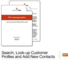Search, Look-up Customer Profiles and Add New Contacts
